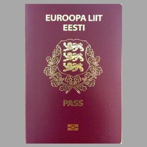 Обложка паспорта гражданина Эстонии. Источник фото: politsei.ee.