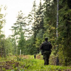 На Юго-Востоке Эстонии начинаются учения по предотвращению нелегальной миграции. Источник фото: Департамент Полиции и Погранохраны Эстонии.